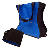 Unlaminated NWPP folding bag with closing popper